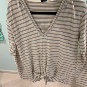Anthropology Striped top with hood